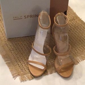 New in Box Call it Spring sandals size 8.5